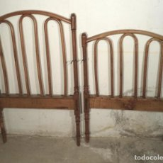 Antigüedades: CABECERO Y PIECERO DE CUNA . Lote 163141206