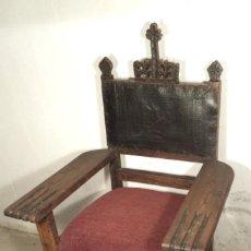 Antigüedades: SILLÓN FRAILERO. Lote 163143374