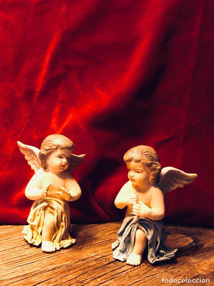 PAREJA ÁNGELES ORANTES (Antigüedades - Religiosas - Varios)