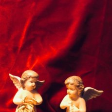 Antigüedades: PAREJA ÁNGELES ORANTES. Lote 163185406