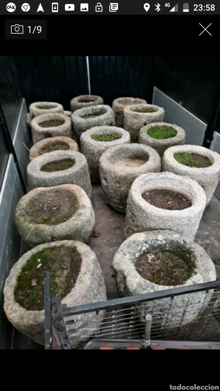 Antigüedades: Pequeña pila de piedra de granito redonda - Foto 3 - 107196908