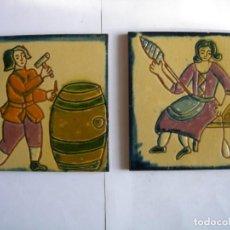 Antigüedades: AZULEJOS POLICROMADOS DE ARTES Y OFICIOS.. Lote 163214450