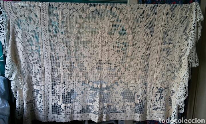 Antigüedades: Mantel o colcha antigua - preciosa !!! 170 x 200 cm - Foto 3 - 163350782