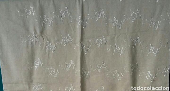 TROZO DE LINO - 140 × 180 CM (Antigüedades - Hogar y Decoración - Cortinas Antiguas)