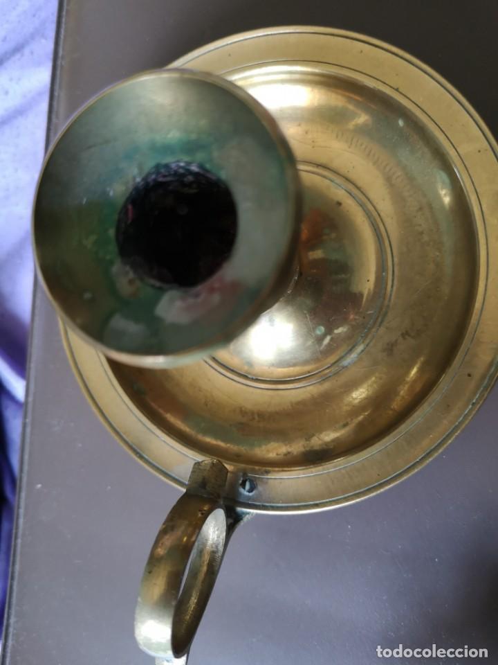 Antigüedades: 3 portavelas bronce - Foto 6 - 163370570