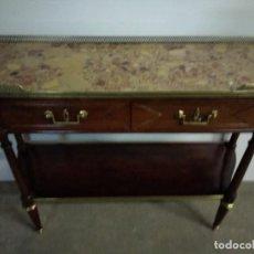 Antigüedades: CONSOLA NOGAL LUIS XVL. Lote 163374142