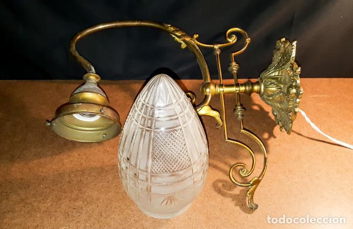 Antigüedades: APLIQUE MODERNISTA C.1900 - Foto 3 - 163385034