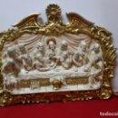 Antigüedades: ALTORELIEVE ÚLTIMA CENA XIX , PAN DE ORO.. Lote 163400182