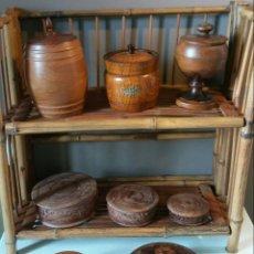 Antigüedades: LOTE DE 8 CAJAS EN MADERA. Lote 163400882