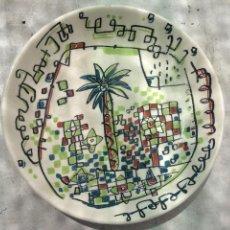 Antiquités: PLATO PORCELANA PALMERA AUTOR MARISCAL PARA CAM BONITTO PLATO DECORATIVO COLECCION. Lote 163353726