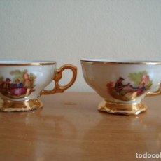 Antigüedades: ANTIGUAS TAZAS DE CAFE FRAGONARD CON SELLO SILVESTRE. Lote 163443082