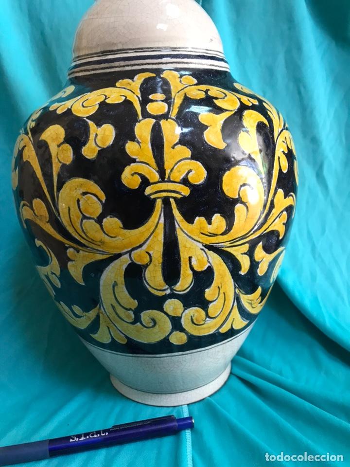Antigüedades: GRAN Florero cerámica de Talavera sin firmar - Foto 3 - 163447778