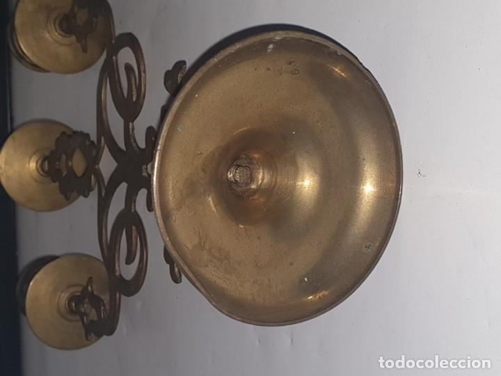 Antigüedades: CANDELABRO METAL - Foto 2 - 163448718