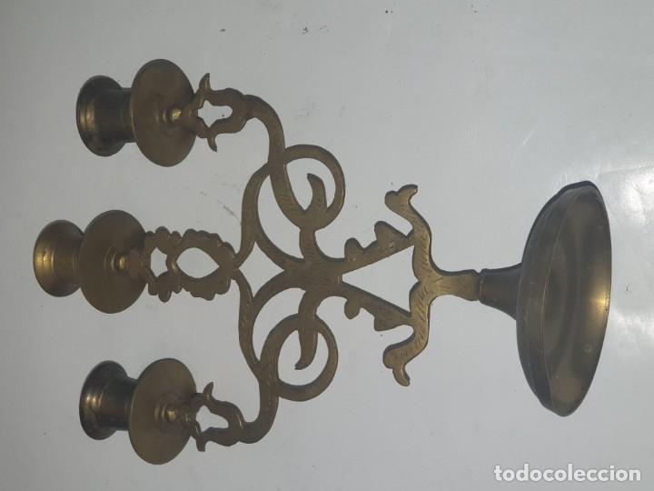 Antigüedades: CANDELABRO METAL - Foto 3 - 163448718