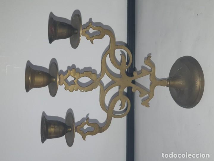 Antigüedades: CANDELABRO METAL - Foto 4 - 163448718