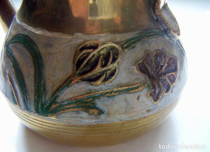 Antigüedades: Antigua tetera Inglesa de cloisone con tapa - Foto 5 - 126708203