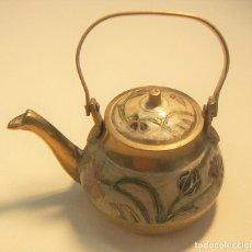 Antigüedades: ANTIGUA TETERA INGLESA DE CLOISONE CON TAPA. Lote 126708203
