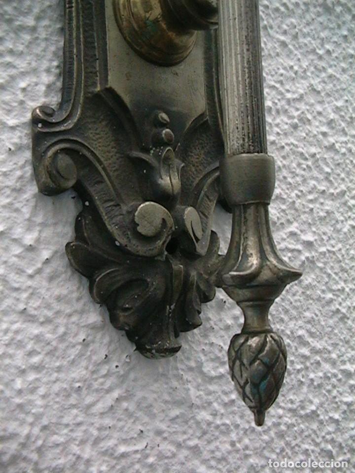 Antigüedades: lámpara industrial aplique farol tulipa - Foto 5 - 163460350