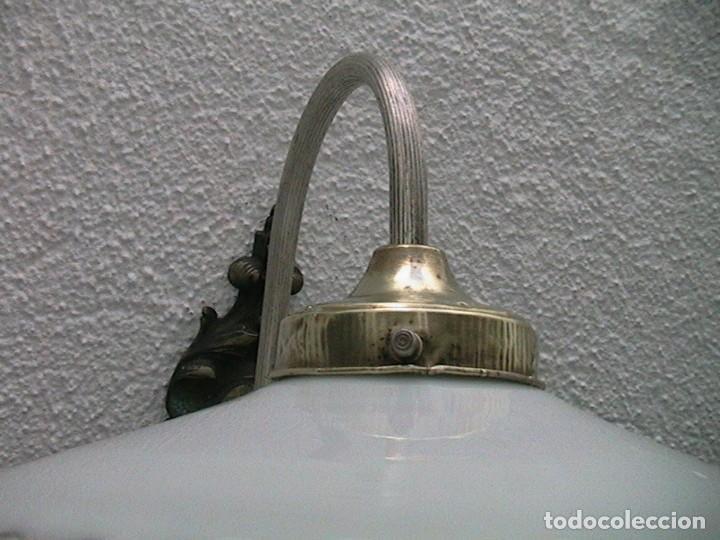 Antigüedades: lámpara industrial aplique farol tulipa - Foto 7 - 163460350