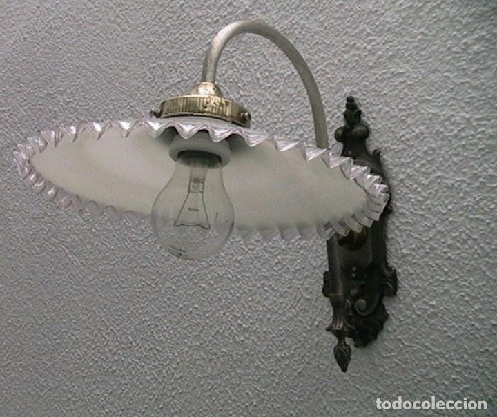 Antigüedades: lámpara industrial aplique farol tulipa - Foto 8 - 163460350