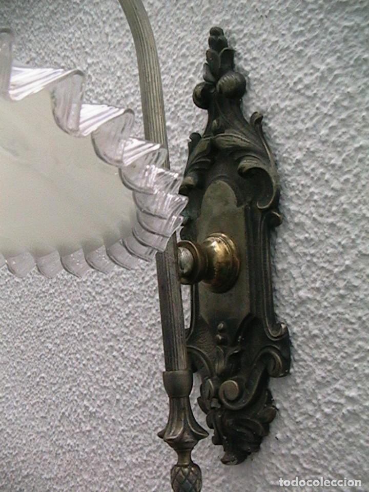 Antigüedades: lámpara industrial aplique farol tulipa - Foto 9 - 163460350