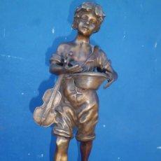 Antigüedades: BRONCE FIRMADO SIGLO XIX 40 CM MOUREAU. Lote 138873602