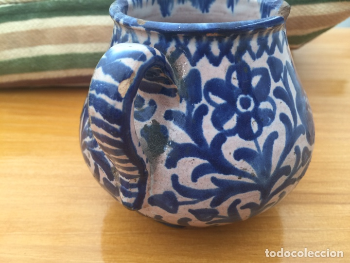 Antigüedades: Azucarero de Olla de fajalauza finales del siglo XIX - Foto 5 - 163466428