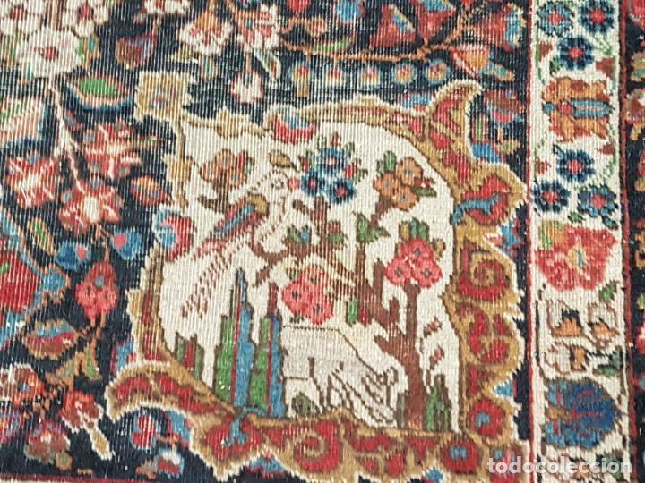 Antigüedades: EXTRAORDINARIA ALFOMBRA IRANÍ YAZD A MANO, SIGLO XIX, (COLORES NATURALES), (GRAN FORMATO 405X280) - Foto 3 - 163474194