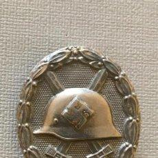 Antigüedades: PLACA MEDALLA CONDECORACIÓN DE HERIDO EN COMBATE CATEGORIA PLATA TERCER III REICH NAZI HITLER NSDAP. Lote 163475002