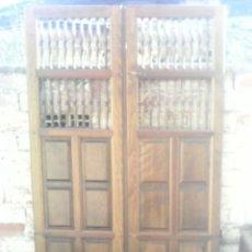 Antigüedades: ANTIGUAS PUERTAS MACIZAS ALACENA. Lote 163478050
