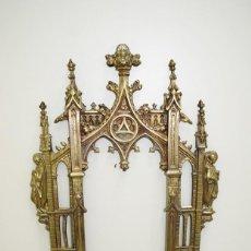 Antigüedades: SACRA ANTIGUA DE BRONCE DORADO. Lote 163481582