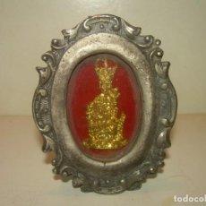 Antigüedades: ANTIGUO RELICARIO METALICO...MUY PESADO.. Lote 163485026