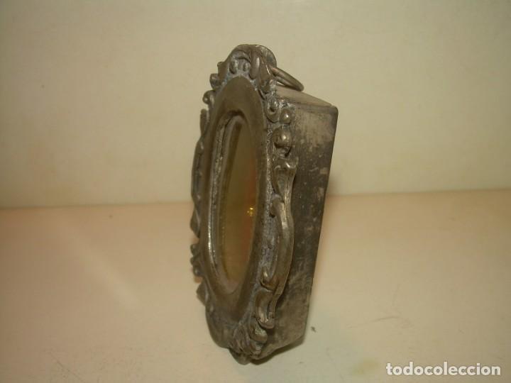 Antigüedades: ANTIGUO RELICARIO METALICO...MUY PESADO. - Foto 2 - 163485026