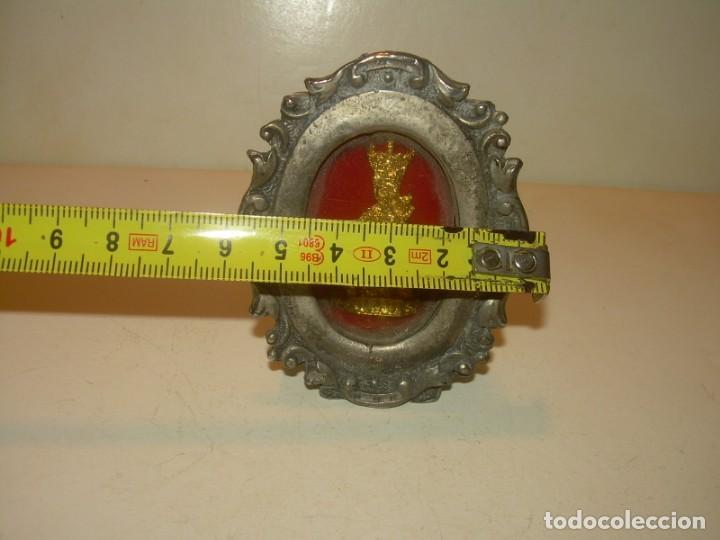 Antigüedades: ANTIGUO RELICARIO METALICO...MUY PESADO. - Foto 7 - 163485026