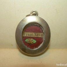 Antiques - ANTIGUO RELICARIO DE PLATA........S, FRANCISCO JAVIER.....CON SU LACRA. - 163486258