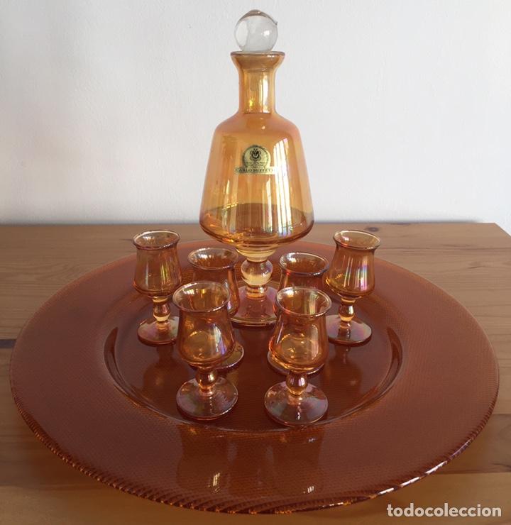 PRECIOSO JUEGO DE LICOR CRISTAL ITALIANO (Antigüedades - Cristal y Vidrio - Italiano)