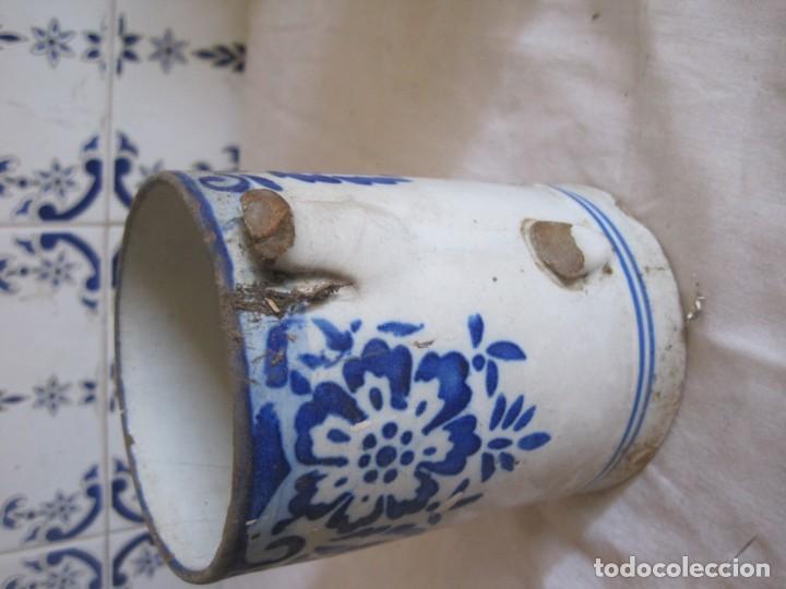 Antigüedades: ANTIGUA PIEZA DE CERAMICA EN COLOR BLANCO Y AZUL COBALTO - Foto 2 - 163490298