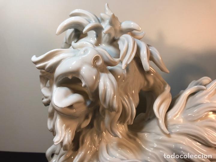 Antigüedades: Figura Porcelana- España- Algora- Perro Boloñés- 40x19x24 cm. - Foto 5 - 163490364