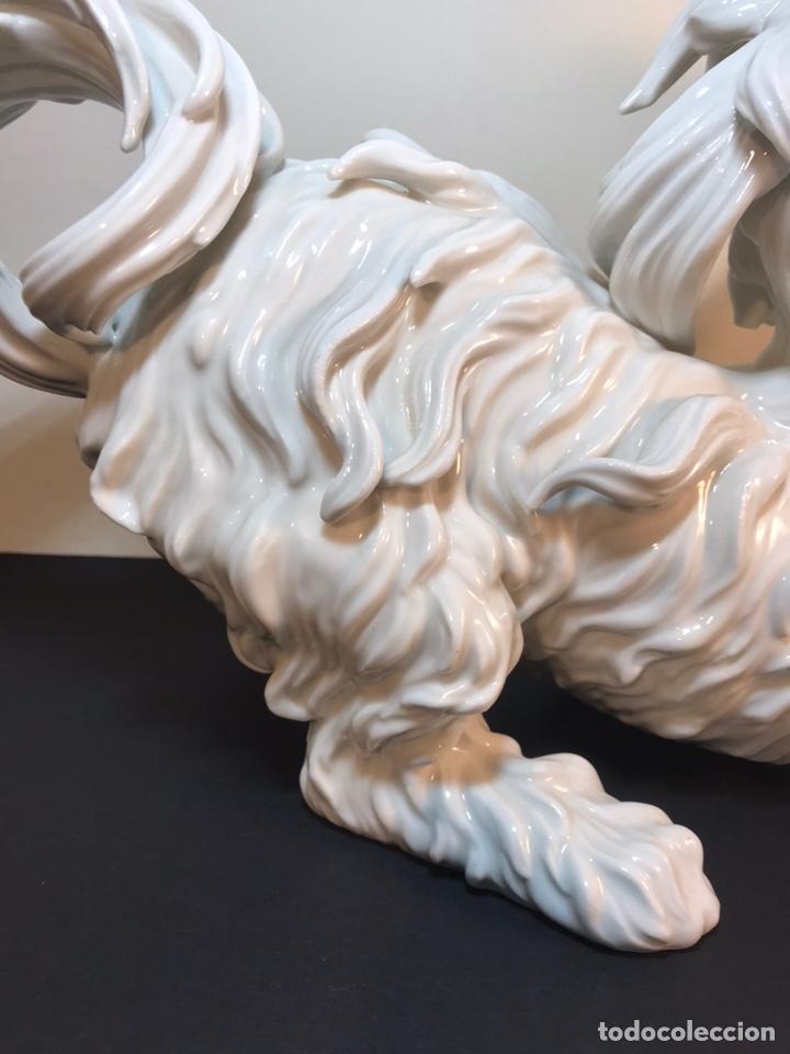 Antigüedades: Figura Porcelana- España- Algora- Perro Boloñés- 40x19x24 cm. - Foto 24 - 163490364