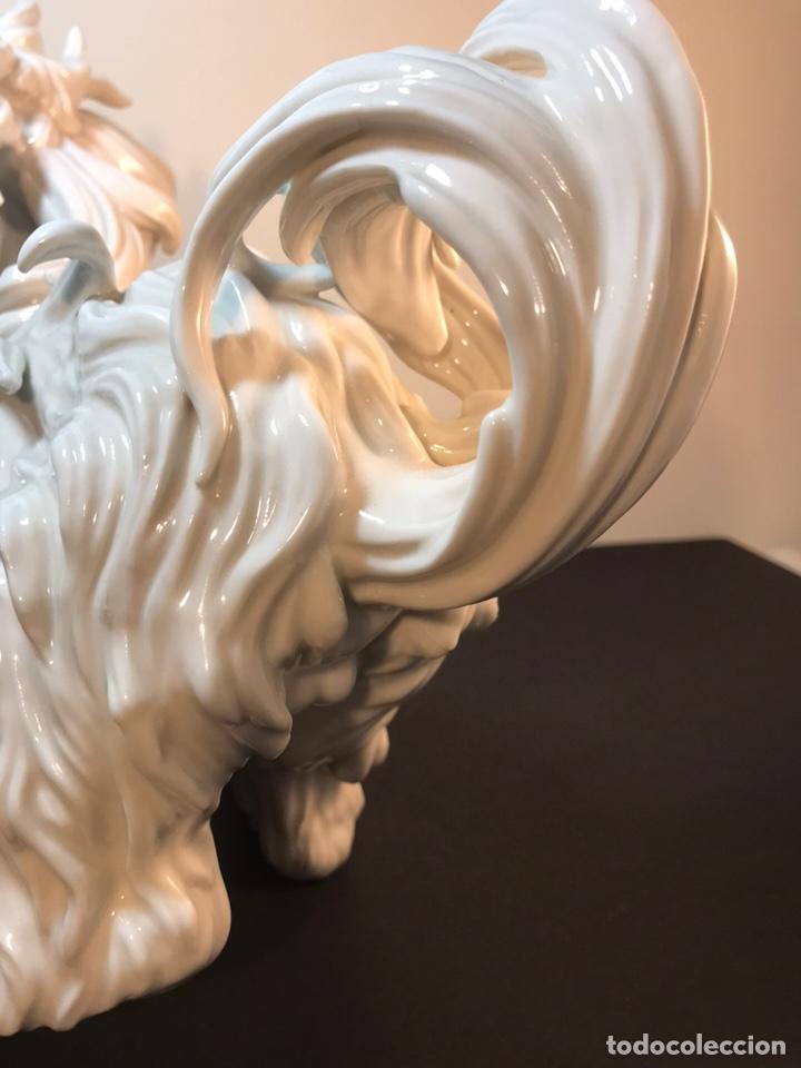 Antigüedades: Figura Porcelana- España- Algora- Perro Boloñés- 40x19x24 cm. - Foto 29 - 163490364