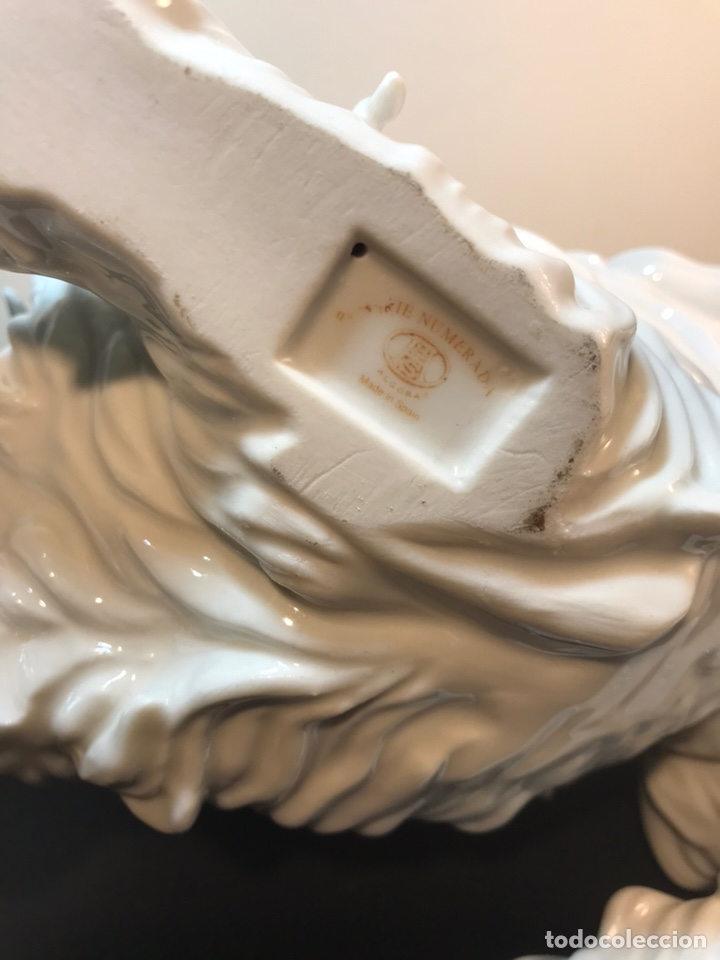 Antigüedades: Figura Porcelana- España- Algora- Perro Boloñés- 40x19x24 cm. - Foto 35 - 163490364