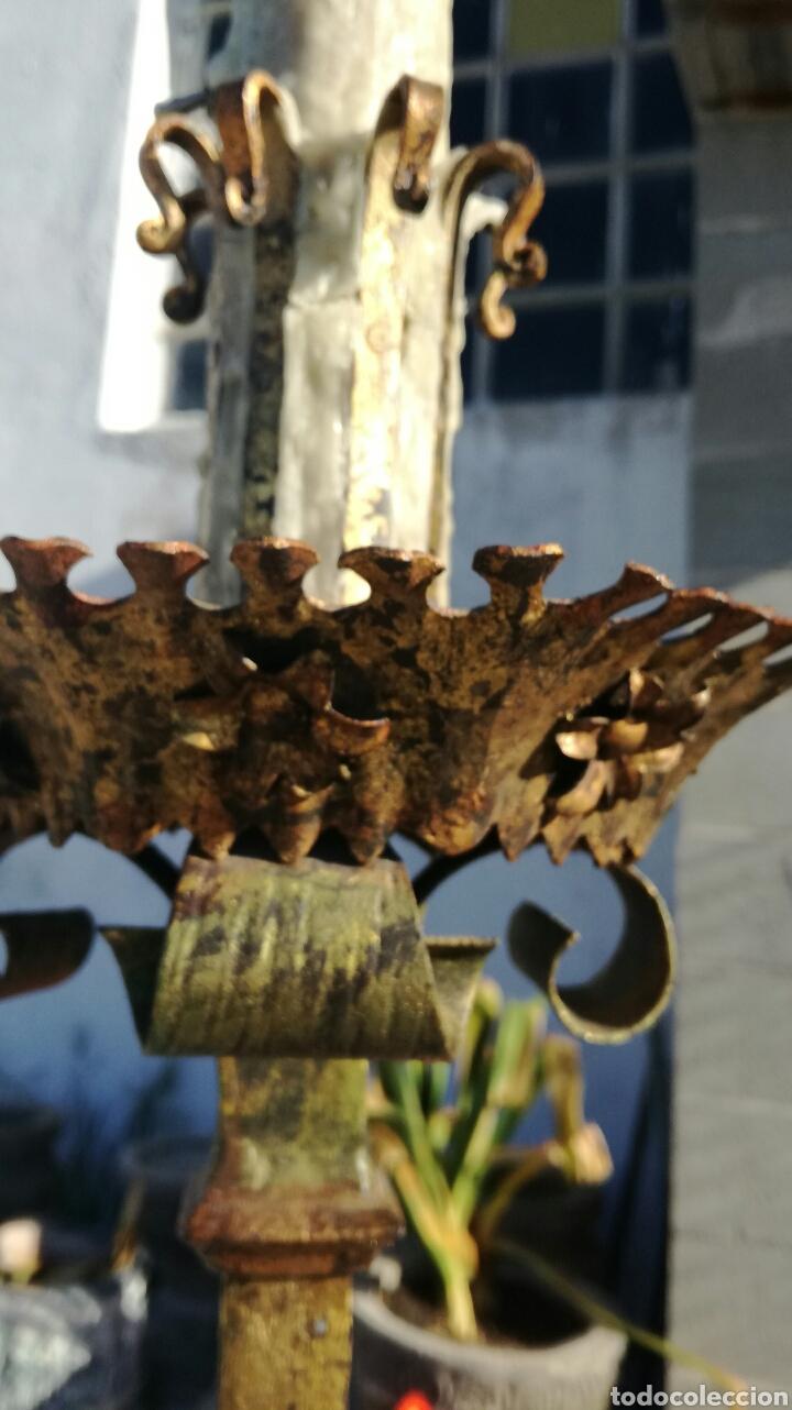 Antigüedades: Achero de forja para velas - Foto 5 - 163537594