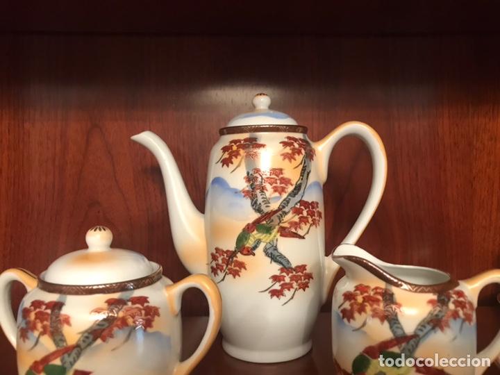 Antigüedades: Importante juego de café japonés pintado a mano - Foto 3 - 163548317