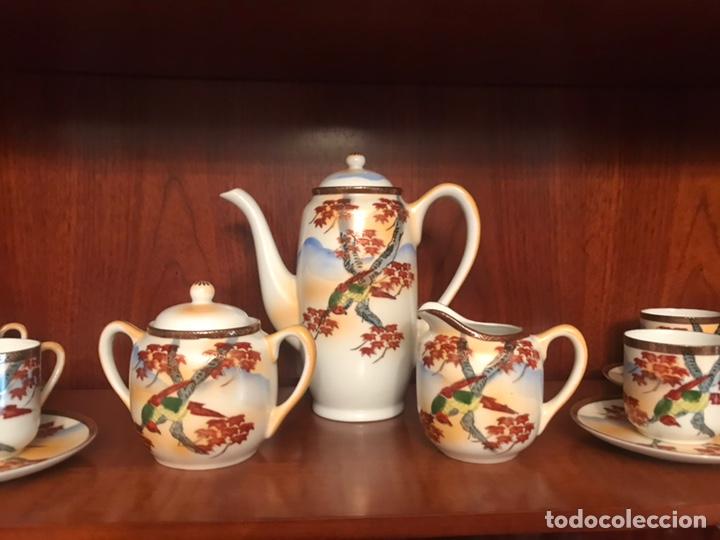 Antigüedades: Importante juego de café japonés pintado a mano - Foto 4 - 163548317