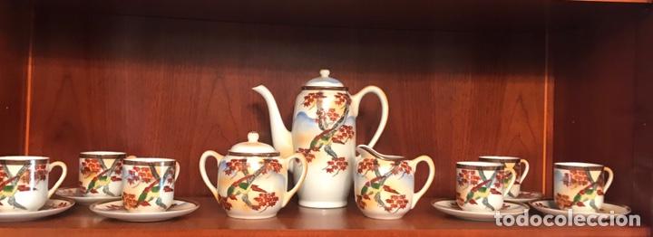 IMPORTANTE JUEGO DE CAFÉ JAPONÉS PINTADO A MANO (Antigüedades - Porcelanas y Cerámicas - Otras)