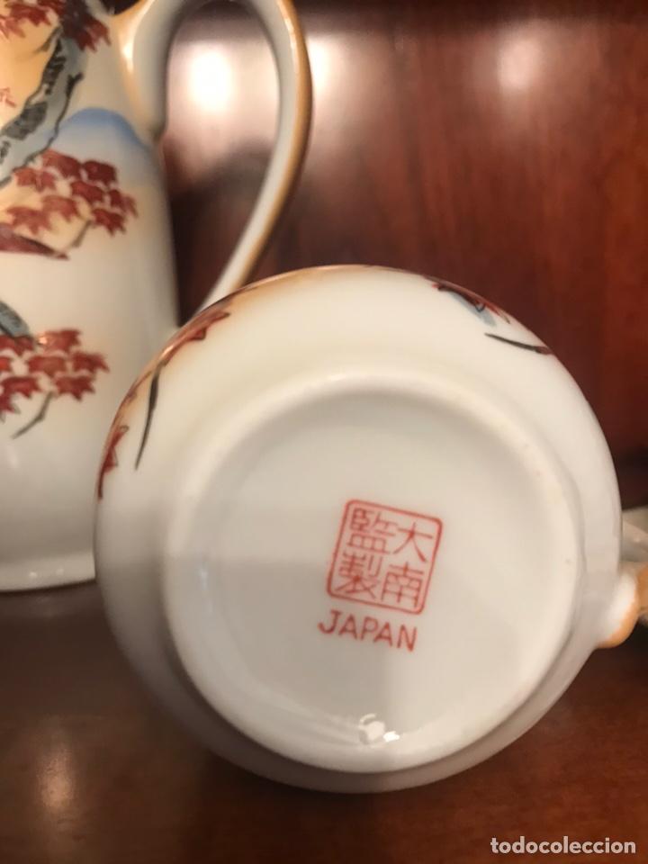 Antigüedades: Importante juego de café japonés pintado a mano - Foto 5 - 163548317