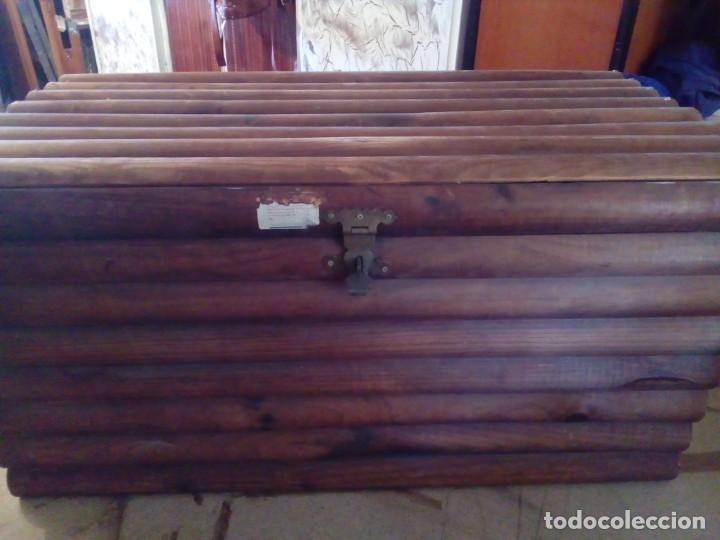 BAUL ARCA DE MADERA (Antigüedades - Muebles Antiguos - Baúles Antiguos)