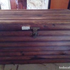 Antigüedades: BAUL ARCA DE MADERA. Lote 163550598