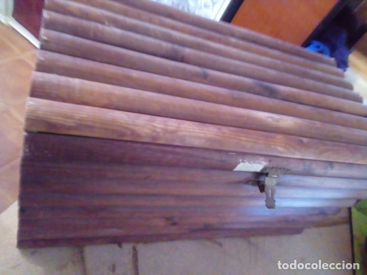 Antigüedades: BAUL ARCA DE MADERA - Foto 4 - 163550598