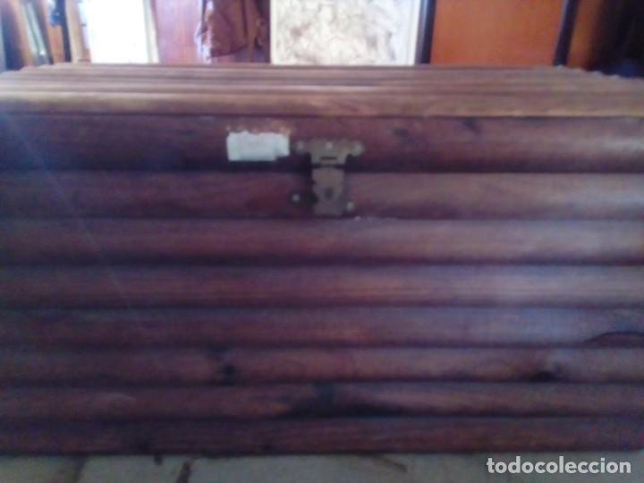 Antigüedades: BAUL ARCA DE MADERA - Foto 6 - 163550598